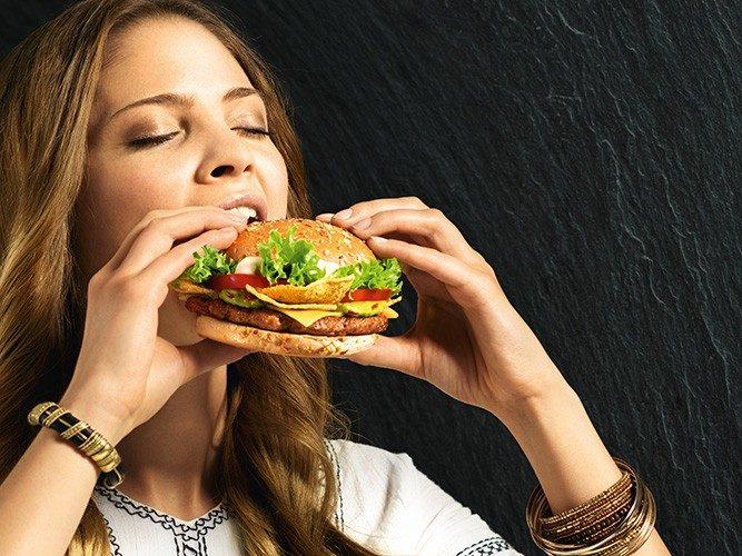 Werbefotografie, Mc Donald's My Burger Kampagne Sujet Frau